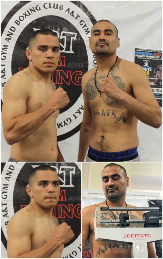 The 31 year-old Jose Mejia (0-1) from Palmdale, CA (r) will be facing 24 year-old Julian Bautista who often times trains at the Robert Garcia Academy in Oxnard, Calif.