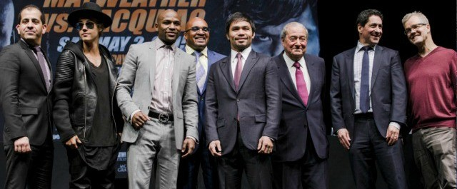 The media turned out, the red carpet was layed and the super hyping of the Manny Pacquiao versus Floyd Mayweather Jr. Welterweight Title fight has begun. All photos: Ester Lin/Showtime