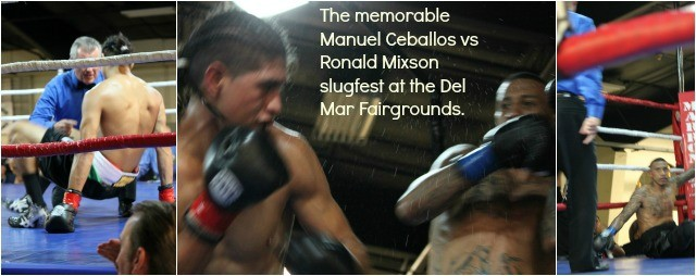 """At the conclusion of the Manuel """"El Venado"""" Ceballos versus Ronald Mixson slugfest in which there were three knockdowns, there were immediate requests for a rematch. Photo: Jim Wyatt"""