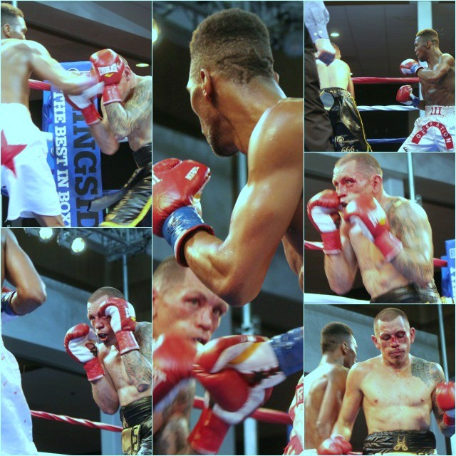 As the fight progressed, Cesar Garcia's face got redder and redder from the open facial cuts. All photos: Jim Wyatt