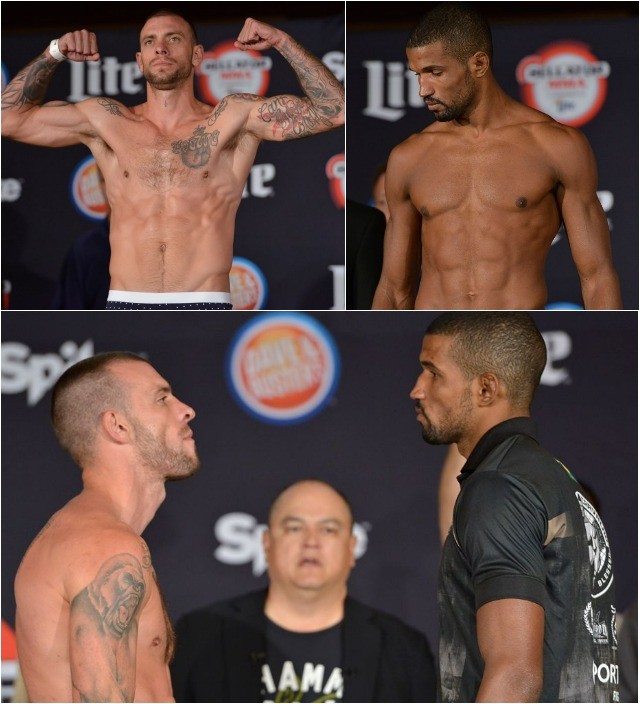 Weigh-in results: Joe Schilling (185.6 pounds) vs. Rafael Carvalho (185.8 pounds)