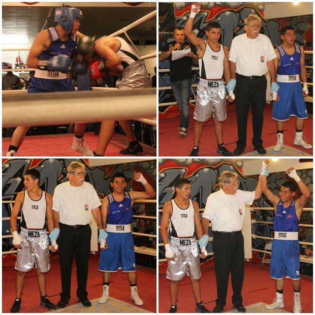 (bottom, right) In Bout #2, it was Alexis Villareal of the National City CYAC defeating Jason Meza of The Arena.