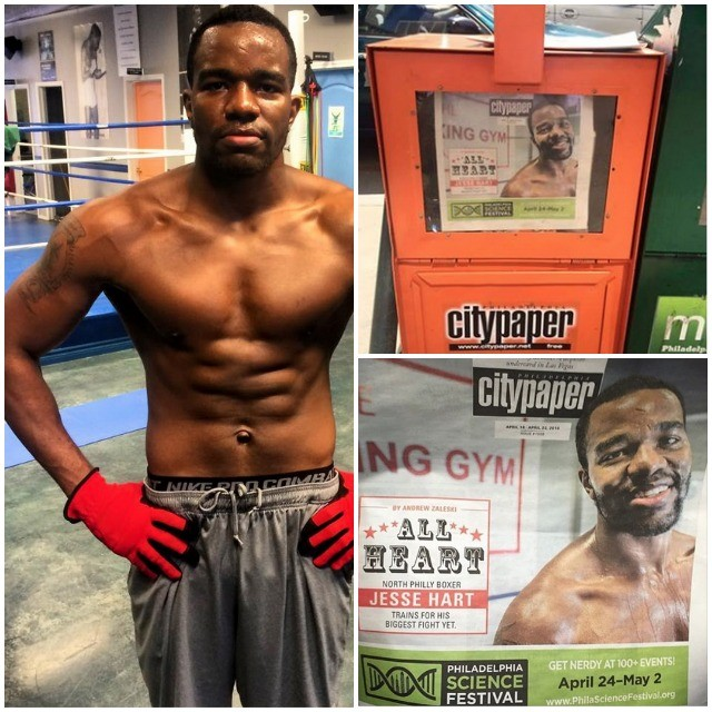 Jesse 'Hard Work' Hart (16-0, 13 KOs), Eugene 'Cyclone' Hart's son, is fighting on the undercard of that Mayweather vs. Pacquiao PPV fight card of May 2. Last week a Philadelphia tabloid by the name of City Paper had him featured on their cover.