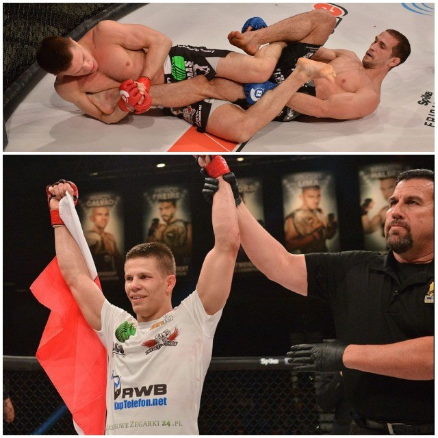 In Bout #7, it was Marcin Held (21-3) getting the submission victory over Tiger Sarnavskiy (30-3). After dominating in both rounds one and two, Held was applying pressure to both the knee and head at the 1:11 mark of round three, when Sarnavskiy was forced to give his verbal tap-out.