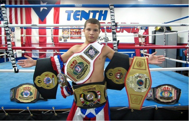 "For only being 18, high school senior Milton ""El Santo"" Santiago has a ton of hardware."