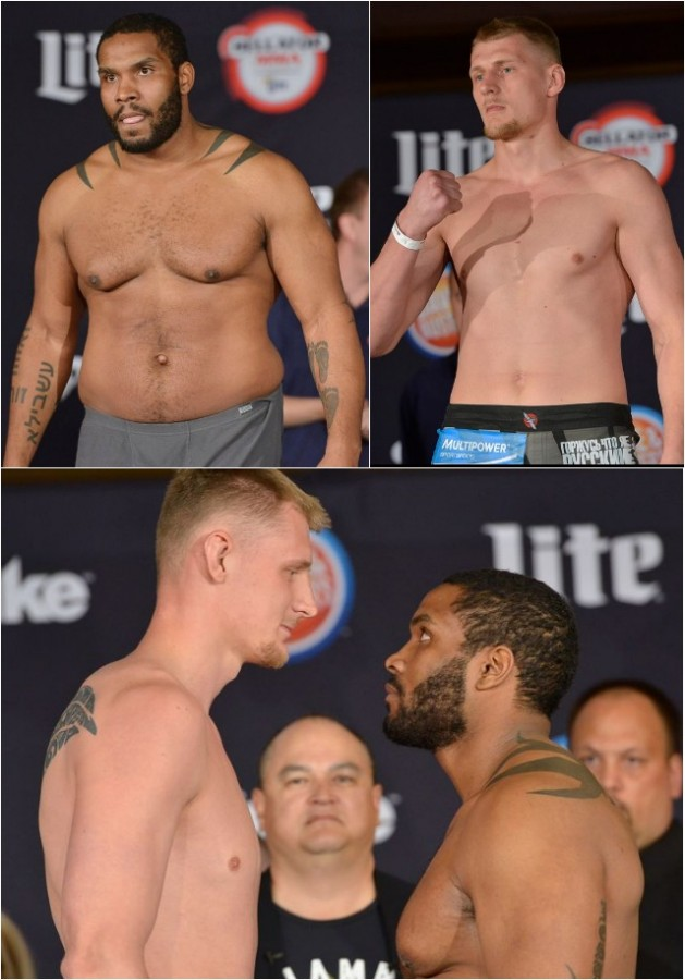 Weigh-in results: Alexander Volkov (243 pounds) vs. Tony Johnson (264 pounds).