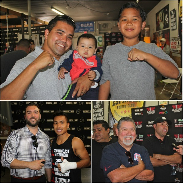 (top) Mr. Rodrigo Lliles and his two boys got all excited about meeting the super star.
