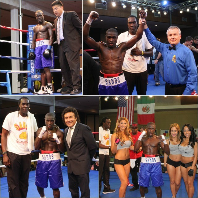 In an attempt to find photos of both Isaac Freeman and Darius Ervin all we could secure the photos of Isaac Freeman's last victory on March 20, 2015 at the Del Mar Fairgrounds in his professional debut - a knockout victory over Jeff Tabizi. Photo: Jim Wyatt