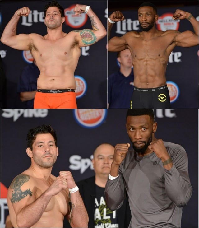 Weigh-in results (l to r): Chris Herrera (186 pounds) vs. Luc Bondole (185.6 pounds)