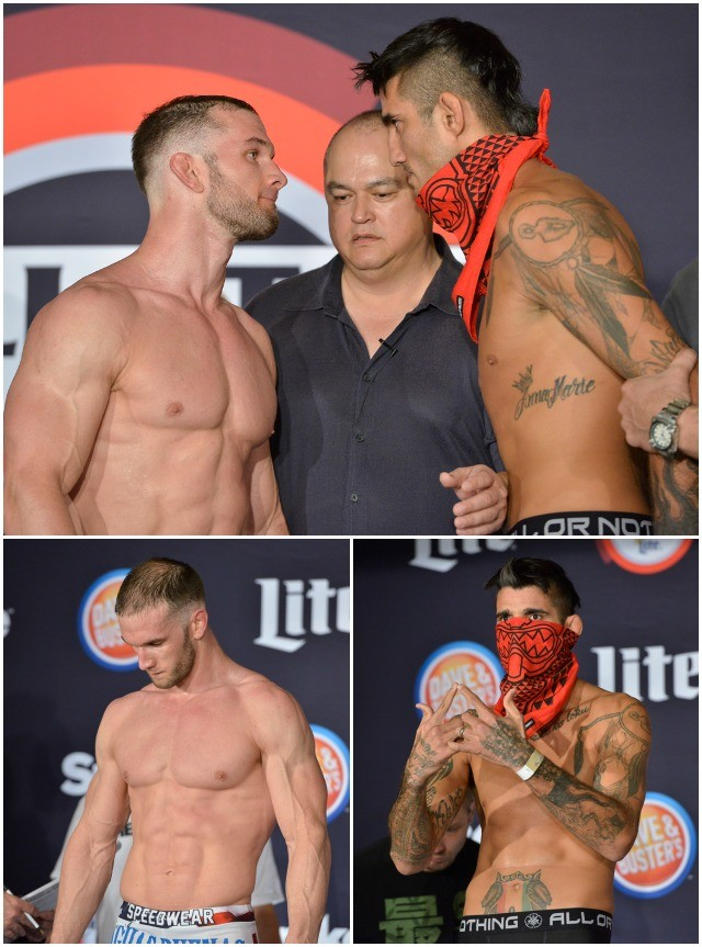 Middleweight Title Fight: Champ Brandon Halsey (188.1 lbs.) vs. Kendall Grove (184.9 lbs.)