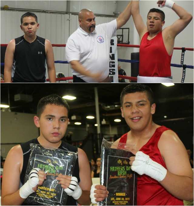 At the conclusion of their bout it was Jesus Gonzalez having his arm raised in victory by referee Hondo Fontan.