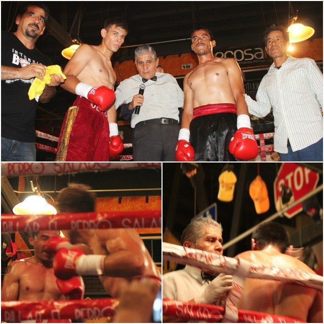 In Bout #8, it was the power puncher Cristian Olivas defeating Francisco Martinez who was making his pro-debut.