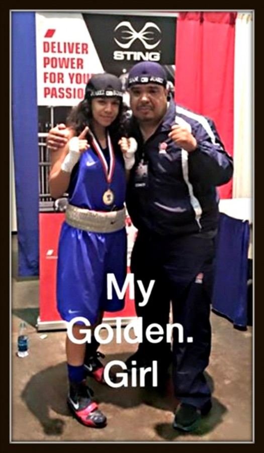 """The 15 year-old Jessica """"Kika"""" Juarez, trained by her father Ramon Diaz, had four young ladies competing in her weight class of 119 pounds."""