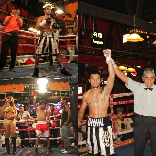 "In Bout #7, it was super flyweight Diuhl ""Elegante"" Olguin from Guadalajarra, Jalisco, Mexico defeating Cristian Alexis Quezada of Tijuana."