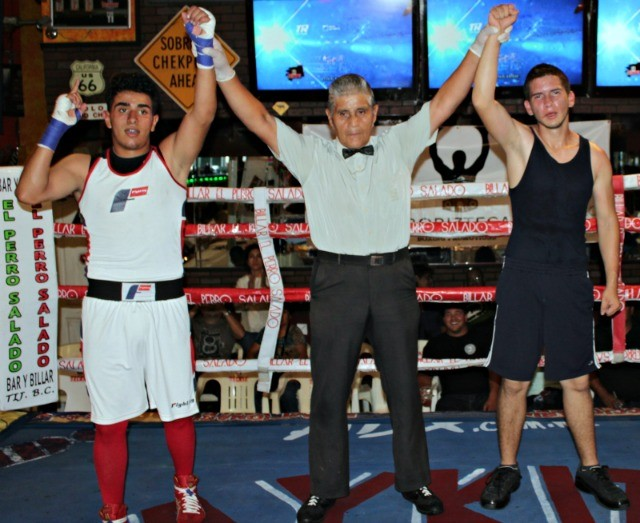 "Luis ""Tiberon"" Lorenzo along with a fellow Amateur went three hard rounds in an exhibition."