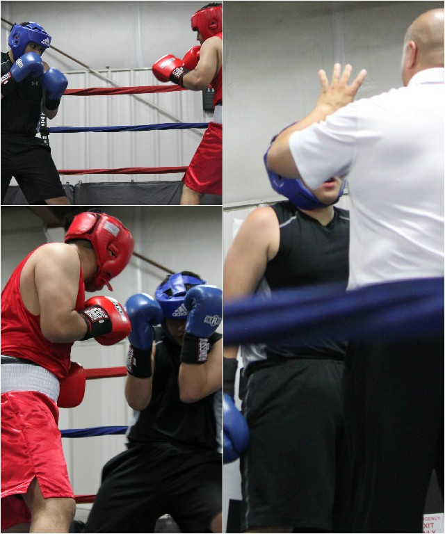 The smathering tactics of Jesus Gonzalez finally led to a standing 8-count.