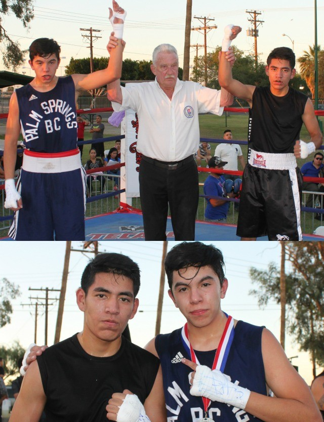 In Bout #4 it was Jose Cordero getting the victory over In Bout #4, it was 15 year-old Jose Cordero (132 pounds) from the San Luis PAL getting the victory over 15-year-old Cristian Recendiz (131.2 pounds) from the Palm Springs Boxing Club.