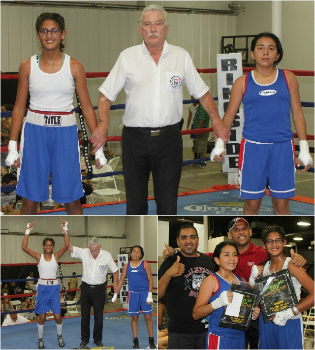 After maintaining the proper distance and using her stiff jab to keep the sharter Roxana Ortiz at bay, Gabriela Fundora took over the contest.