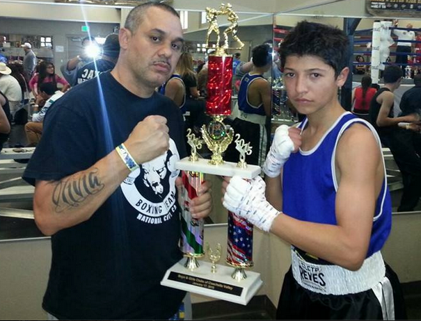 Jabin Chollet with his coach and confidant Jessie Tanner.