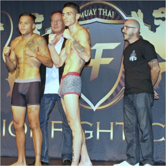 In the first pro bout it will be Marvin Madariaga (l) of Blue Ocean Muay Thai, San Diego, taking on Tony Fausto of La Jolla, San Diego, Calif.
