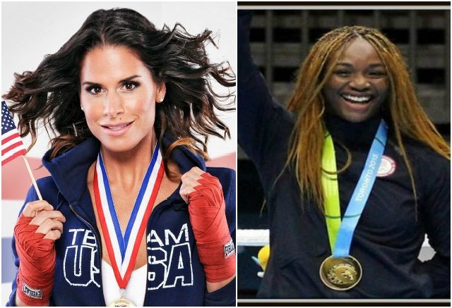 The competition is fierce between the ladies Danyelle Wolf and the 2008 Gold Medalist Claressa Shields.