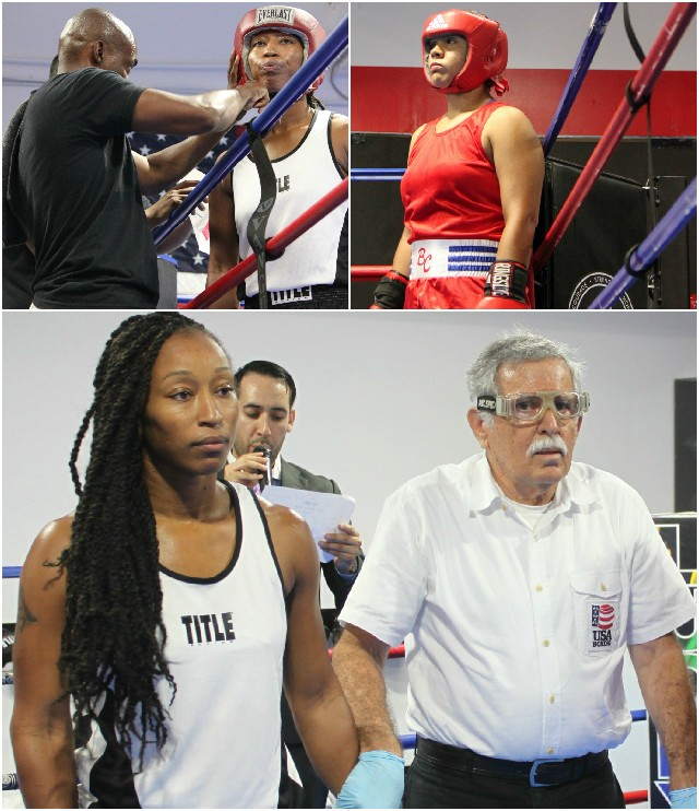 (photos, top) The combatants in Bout #5, get ready for their