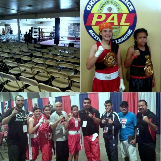 (top left photo) The Medina family's boxing gym, Bound Boxing Academy on Broadway regularly hosts USA Amateur Boxing events.