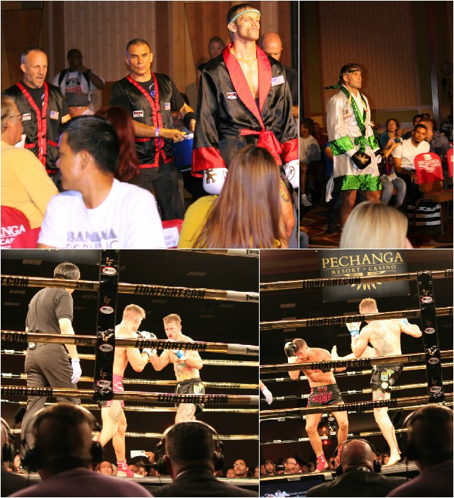(top, left) Andrew Kapel makes his way to the ring. (top, right) Mike Lemaire follows.