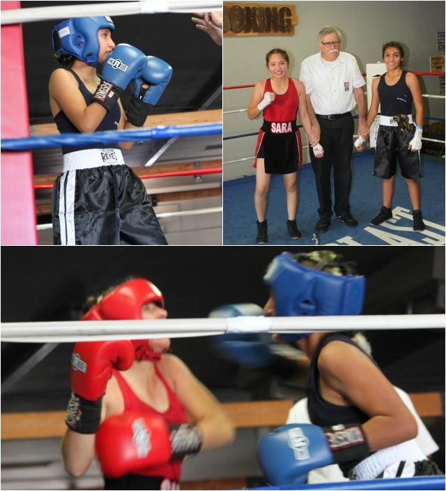 In Bout #7 it was Lizzette Corrales of the ABC Mongoose Gym in San Diego pulling off the come from behind victory over the always tough Sara Segura of Baja Boxing.