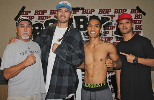 All three members of Adrian Morilla's support group showed up at Thursday's weigh-in.