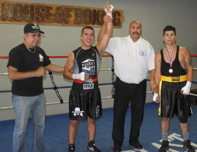 Angel Ramirez of the House of Boxing taking on 19 year-old, Jerry Hernandez, unattached, from East Los Angeles.