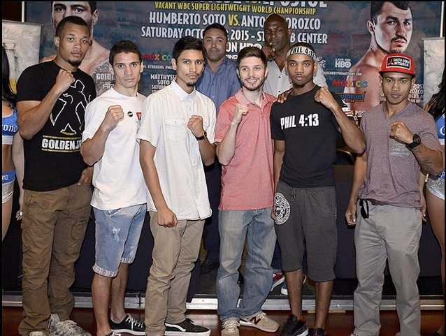 Boxers on Saturday's undercard (l to r)