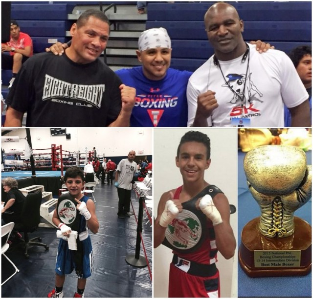 Can't stop this one - Julius Ballo moved up in weight from 85 pounds to 90 pounds and once again he destroyed the competition to include this year's reigning Silver Gloves Champion. When the 2015 National PAL Boxing Tournament ended, Joseph Landeros was selected Best Male Boxer in the 13-14 year-old group.