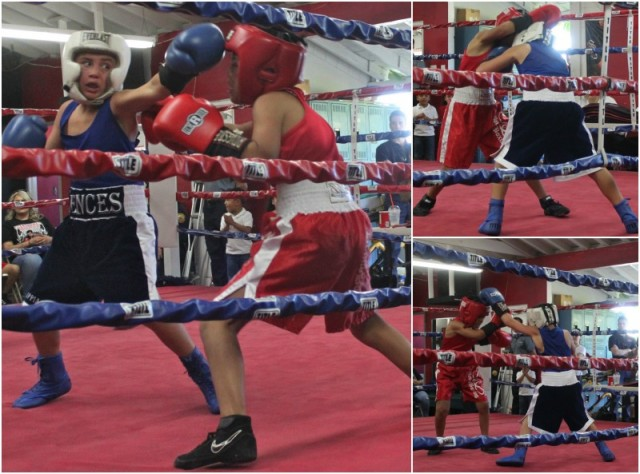 Bout #3 saw 10 year-old Sammy Vences (4-2, 73.2 pounds) of Max Impact Boxing, Oceanside, Calif. come away with the victory over 11 year-old Jon Carlos Meza