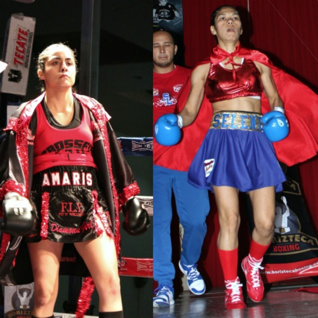 The young ladies, first Amaris Quintana followed by Selene Lopez make their entrance.