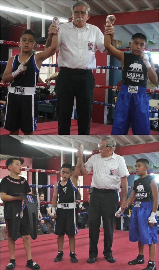 In another close one, it was Isaiah Bernal of Romo's Boxing, El Centro getting the win over Rogelio Palacios of the Legacy Training Center, Vista, Calif.