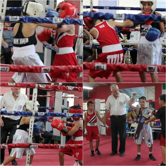 (bottom, right) Soltani has his arm raised in victory by referee Rick Ley after Soltani defeated the rough and tumble Jahir Romo.