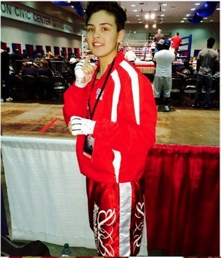 "Andrea ""The Boss"" Medina an inspiration to all at the Bound Boxing Academy on Broad Street in Chula Vista, Calif."