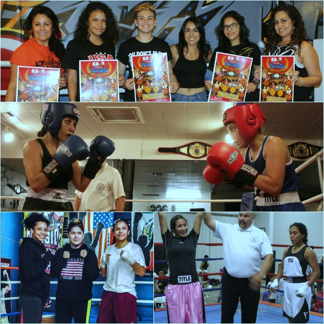 (photo, top) At the time pro boxer Amaris Quintana (c) from the Bound Boxing Academy had an upcoming fight in Tijuana and every member of her gym lent their support.