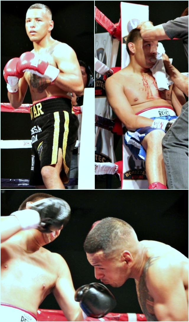 In both the third and fourth rounds, every punch that Armando Tovar threw had mean intentions. He was not going down without giving it his very best effort.