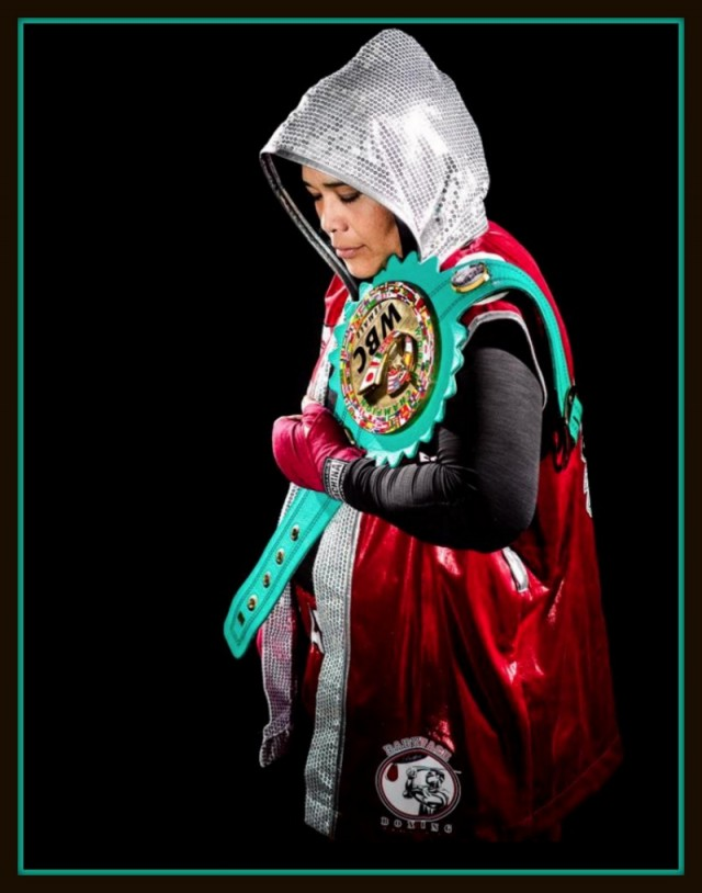 "Martha ""Shadow"" Salazar (13-4, 3 KOs) of San Francisco, Calif. defending her title."