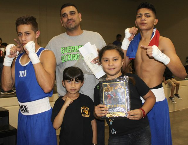 The Guerrero Boxing team is happy as they go undefeated on the day.