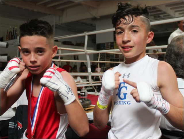These two youngsters, (l to r) Andres Garcia and Steven Navarro went nonstop the entire three rounds.