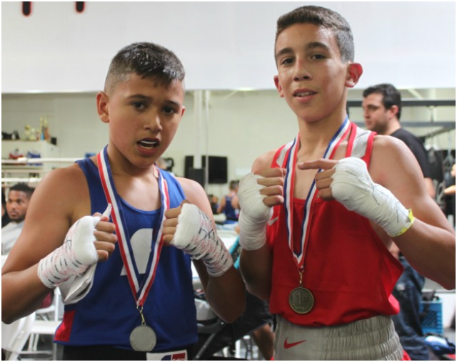 At the conclusion of Bout #4, the victorious Amed Medina (r) and Daniel Morales (l) pose for one last photo.