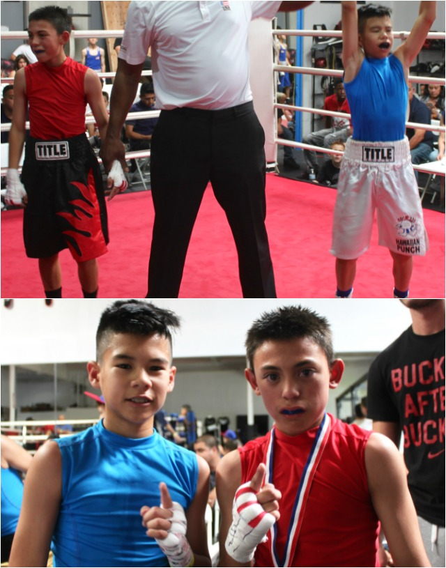 (l to r) The victorious Brandon Viloria and Isaiah Torres.