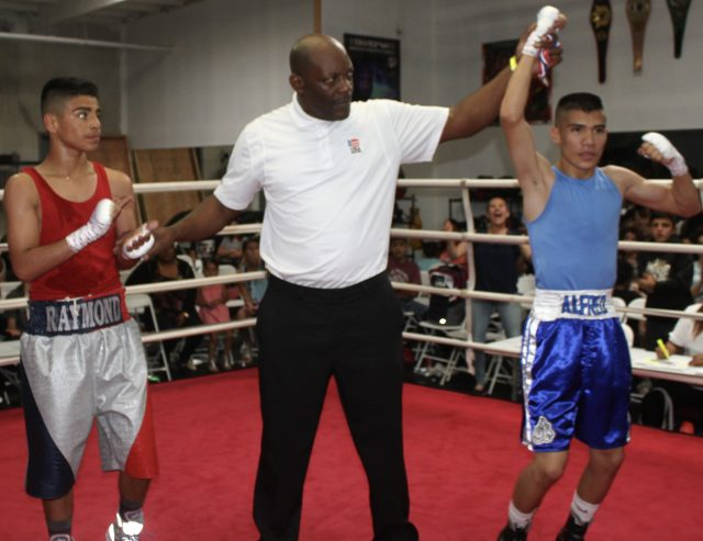 At the end of bout #16, it was Alfredo Vargas getting the win over