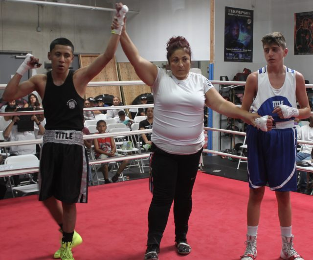 After the announcement it was Eduardo Sanchez having his arm raised by the referee.