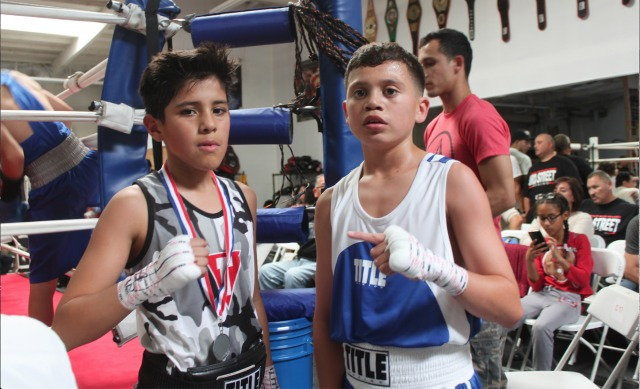 Bout #2,in the 11/12 age group, 70 pounders, it was Steven Navarro