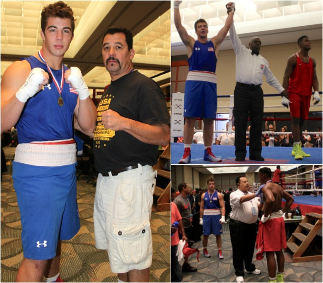Youth/201+ lbs: Richard Torrez, Tulare, Calif., stops Devon Young, Aiken, S.C., in round one after two knockdowns.