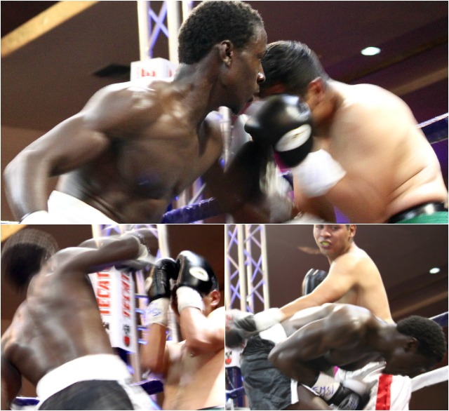 As you can see, Kevin Ottley's punches landed and Alexis Zamarripa's didn't.